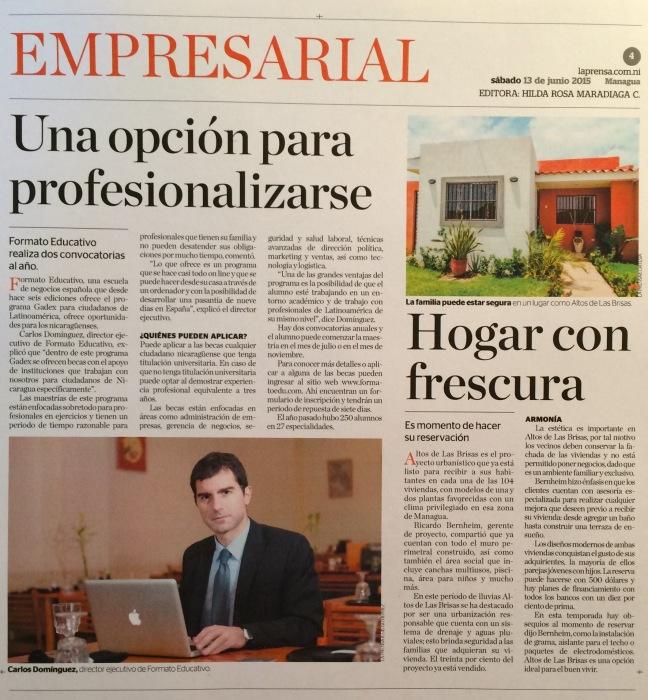 Entrevista La Prensa Nicaragua