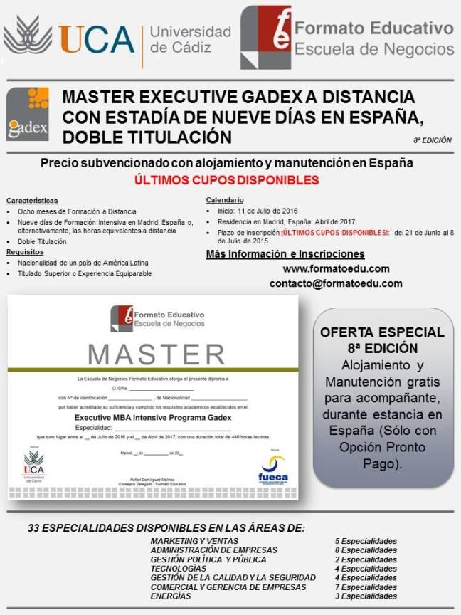Master Gadex ¡ÚLTIMOS CUPOS!