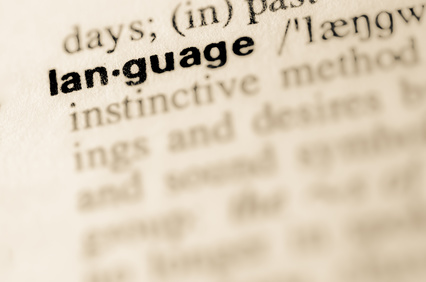 Dictionary definition of word language