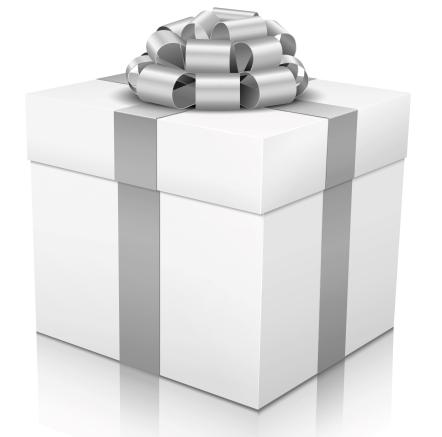 Geschenk, Geschenkpaket, Paket, Päckchen, Edel, Silber, Grau, 3